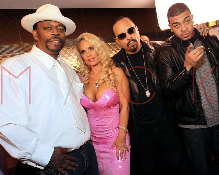 NEW YORK, NY - MAY 22:  Grandmaster Caz, Coco, Ice-T and Knight attend the Coco Licious Clothing launch party at the Grace Hotel on May 22, 2011 in New York City.  (Photo by Steve Mack/S.D. Mack Pictures) *** Local Caption *** Grandmaster Caz; Coco; Ice-T; Knight