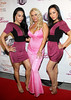 NEW YORK, NY - MAY 22:  Coco (middle) poses with the Sachika twins Tonya and Totan at the Coco Licious Clothing launch party at the Grace Hotel on May 22, 2011 in New York City.  (Photo by Steve Mack/S.D. Mack Pictures) *** Local Caption *** Tonya Sachika; Coco; Totan Sachika