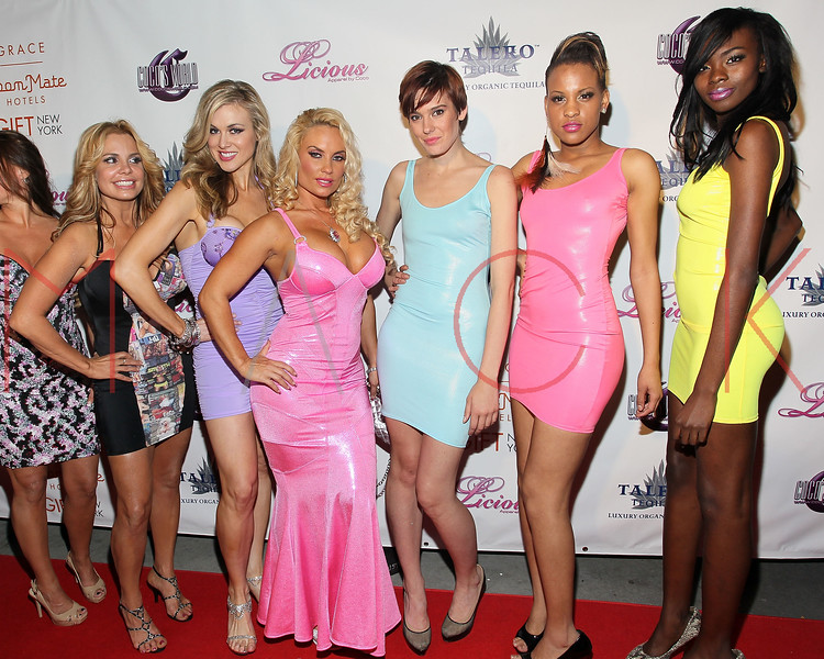 NEW YORK, NY - MAY 22:  Coco (4th from the right) attends the Coco Licious Clothing launch party at the Grace Hotel on May 22, 2011 in New York City.  (Photo by Steve Mack/S.D. Mack Pictures) *** Local Caption *** Coco