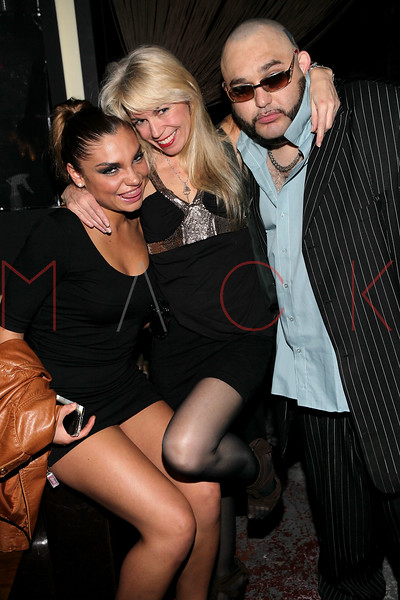 NEW YORK, NY - MAY 14:  Guest, Roberta Thompson and Pablo Escobar, Jr. attend Fashion Designer Roberta Thompson's birthday party at Lair Restaurant & Lounge on May 14, 2011 in New York City.  (Photo by Steve Mack/S.D. Mack Pictures) *** Local Caption *** Roberta Thompson; Pablo Escobar; Jr.