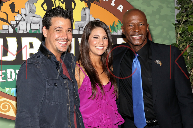 """NEW YORK, NY - MAY 15:  (L-R) 'Survivor: Redemption Island' winner Rob Mariano and 'Survivor: Redemption Island' contestants Natalie Tenerelli and Phillip Sheppard attend the """"Survivor: Redemption Island"""" Finale and Reunion Show at the Ed Sullivan Theater on May 15, 2011 in New York City.  (Photo by Steve Mack/S.D. Mack Pictures) *** Local Caption *** Rob Mariano; Natalie Tenerelli; Phillip Sheppard"""