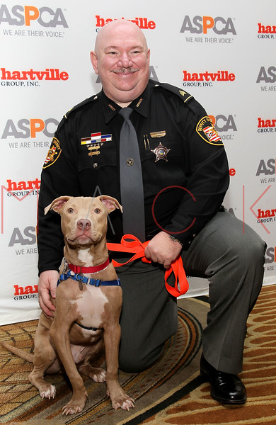 NEW YORK, NY - NOVEMBER 17:  Sgt. David Hunt (R) (ASPCA Public Service Award) and Blaze attend the 2011 ASPCA Humane Awards luncheon at The Pierre Hotel on November 17, 2011 in New York City.  (Photo by Steve Mack/S.D. Mack Pictures) *** Local Caption *** Blaze; David Hunt