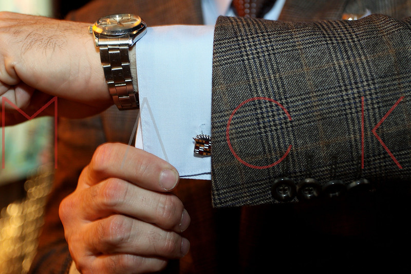 NEW YORK, NY - NOVEMBER 16:  Kaves (cuff link detail) attends the 2011 Georges Duboeuf Beaujolais Nouveau unveiling at Stage 37 on November 16, 2011 in New York City.  (Photo by Steve Mack/S.D. Mack Pictures) *** Local Caption *** Kaves