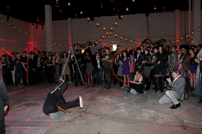 NEW YORK, NY - NOVEMBER 16:  Atmosphere (street dancers perform) at the 2011 Georges Duboeuf Beaujolais Nouveau unveiling at Stage 37 on November 16, 2011 in New York City.  (Photo by Steve Mack/S.D. Mack Pictures)