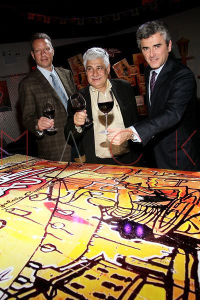 NEW YORK, NY - NOVEMBER 16:  Peter Deutsch, Jacques Capsouto and Franck Duboeuf attend the 2011 Georges Duboeuf Beaujolais Nouveau unveiling at Stage 37 on November 16, 2011 in New York City.  (Photo by Steve Mack/S.D. Mack Pictures) *** Local Caption *** Peter Deutsch; Jacques Capsouto; Franck Duboeuf