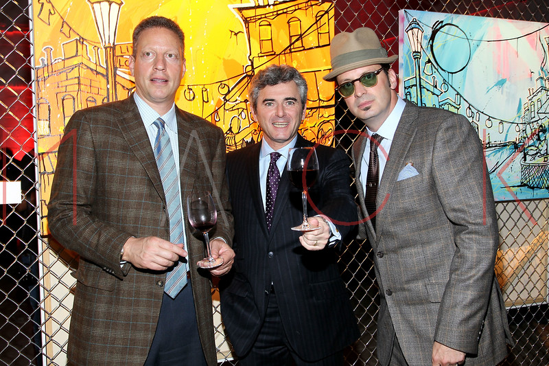 NEW YORK, NY - NOVEMBER 16:  Peter Deutsch, Franck Duboeuf and Kaves attend the 2011 Georges Duboeuf Beaujolais Nouveau unveiling at Stage 37 on November 16, 2011 in New York City.  (Photo by Steve Mack/S.D. Mack Pictures) *** Local Caption *** Peter Deutsch; Franck Duboeuf; Kaves