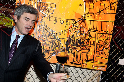 NEW YORK, NY - NOVEMBER 16:  The 2011 Georges Duboeuf Beaujolais Nouveau unveiling at Stage 37 on November 16, 2011 in New York City.