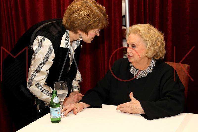 NEW YORK, NY - NOVEMBER 29:  Barbara Cook (R) poses after a performance Feinstein's at Loews Regency Ballroom on November 29, 2011 in New York City.  (Photo by Steve Mack/S.D. Mack Pictures)