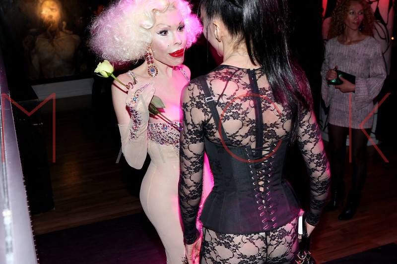 NEW YORK, NY - NOVEMBER 20:  Amanda Lepore (L) attends the Blind Tiger grand opening on November 20, 2011 in New York City.  (Photo by Steve Mack/S.D. Mack Pictures) *** Local Caption *** Amanda Lepore