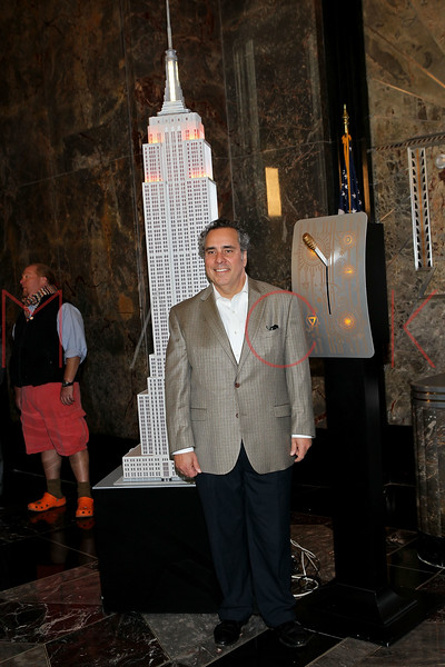 NEW YORK, NY - NOVEMBER 01:  Michael Lomonaco lights the The Empire State Building on November 1, 2011 in New York City.  (Photo by Steve Mack/S.D. Mack Pictures) *** Local Caption *** Michael Lomonaco