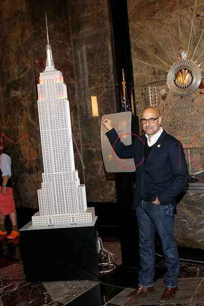 NEW YORK, NY - NOVEMBER 01:  Stanley Tucci lights the The Empire State Building on November 1, 2011 in New York City.  (Photo by Steve Mack/S.D. Mack Pictures) *** Local Caption *** Stanley Tucci
