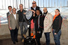 NEW YORK, NY - NOVEMBER 01:  Ken Biberaj, Michael Lomonaco, Anthony Bourdain, Mario Batali, Margarette Purvis, Stanley Tucci and April Bloomfield light the The Empire State Building on November 1, 2011 in New York City.  (Photo by Steve Mack/S.D. Mack Pictures) *** Local Caption *** Ken Biberaj; Michael Lomonaco; Anthony Bourdain; Mario Batali; Margarette Purvis; Stanley Tucci; April Bloomfield