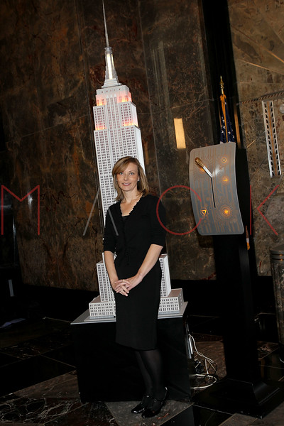 NEW YORK, NY - NOVEMBER 01:  Tanya Wenman Steel lights the The Empire State Building on November 1, 2011 in New York City.  (Photo by Steve Mack/S.D. Mack Pictures) *** Local Caption *** Tanya Wenman Steel