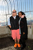 NEW YORK, NY - NOVEMBER 01:  Mario Batali and Margarette Purvis pose on the observation deck at the lighting of the The Empire State Building on November 1, 2011 in New York City.  (Photo by Steve Mack/S.D. Mack Pictures) *** Local Caption *** Mario Batali; Margarette Purvis