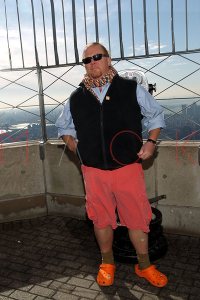 NEW YORK, NY - NOVEMBER 01:  Mario Batali poses on the observation deck at the lighting of the The Empire State Building on November 1, 2011 in New York City.  (Photo by Steve Mack/S.D. Mack Pictures) *** Local Caption *** Mario Batali