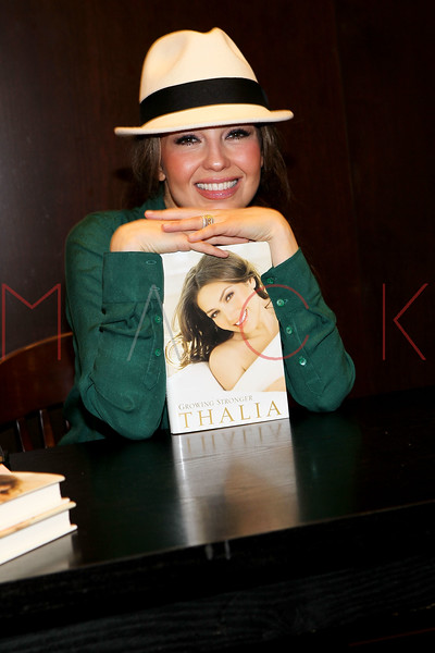 """NEW YORK, NY - NOVEMBER 01:  Thalia promotes """"Growing Stronger"""" at the Barnes & Noble 82nd Street on November 1, 2011 in New York City.  (Photo by Steve Mack/S.D. Mack Pictures) *** Local Caption *** Thalia"""