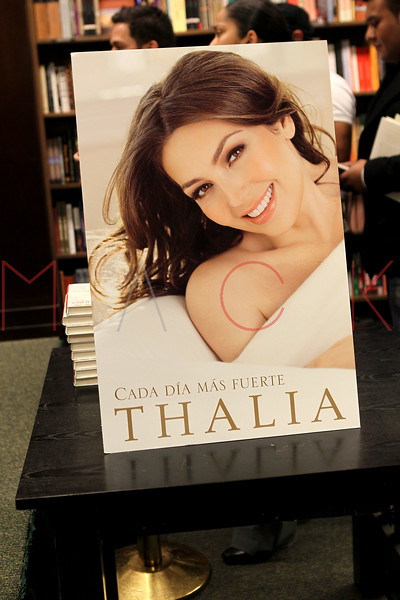 "NEW YORK, NY - NOVEMBER 01:  Atmosphere (book cover poster) at book signing for ""Growing Stronger"" at the Barnes & Noble 82nd Street on November 1, 2011 in New York City.  (Photo by Steve Mack/S.D. Mack Pictures) *** Local Caption *** Thalia"
