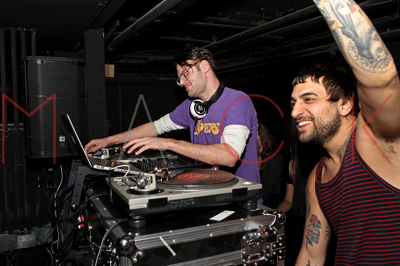 NEW YORK, NY - NOVEMBER 04:  DJ Alex Pall (L) of The Chainsmokers performs at Grand Opening of Rokk City - New York on November 4, 2011 in New York City.  (Photo by Steve Mack/WireImage for Rokk City) *** Local Caption *** Alex Pall