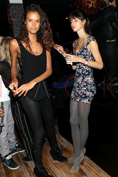 NEW YORK, NY - NOVEMBER 04:  Lays Silva and Thais Martins attend Grand Opening of Rokk City - New York on November 4, 2011 in New York City.  (Photo by Steve Mack/WireImage for Rokk City) *** Local Caption *** Lays Silva; Thais Martins