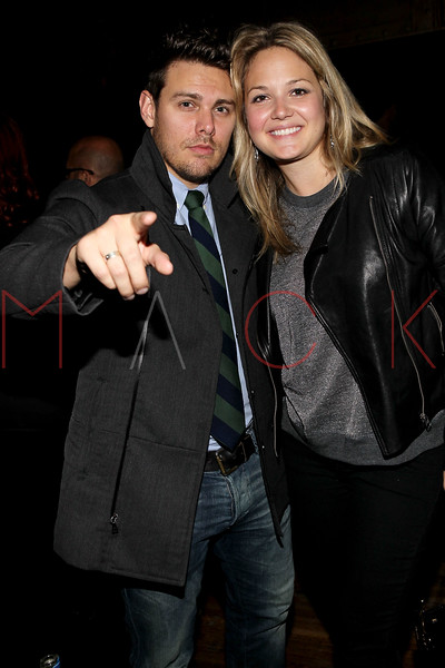 NEW YORK, NY - NOVEMBER 04:  Christopher Hoyle and Michelle Oswalt attends Grand Opening of Rokk City - New York on November 4, 2011 in New York City.  (Photo by Steve Mack/WireImage for Rokk City) *** Local Caption *** Christopher Hoyle; Michelle Oswalt