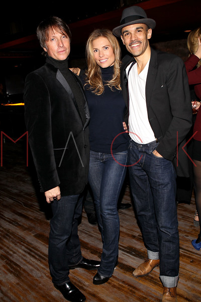 NEW YORK, NY - NOVEMBER 04:  Rokk City club co-owner Robert Watman, Meredith Miers and Damion Luaiye attend Grand Opening of Rokk City - New York on November 4, 2011 in New York City.  (Photo by Steve Mack/WireImage for Rokk City) *** Local Caption *** Robert Watman; Meredith Miers; Damion Luaiye