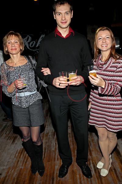 NEW YORK, NY - NOVEMBER 04:  Victoria Gulevich, Ivan and Elena Kornyeyeva attend Grand Opening of Rokk City - New York on November 4, 2011 in New York City.  (Photo by Steve Mack/WireImage for Rokk City) *** Local Caption *** Victoria Gulevich; Ivan; Elena Kornyeyeva