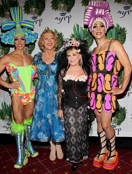 NEW YORK, NY - OCTOBER 28:  Nick Adams, Tony Scheldon, Bette Midler and Will Swenson attend 16th Annual Bette Midler's New York Restoration Project's Hulaween at The Waldorf=Astoria on October 28, 2011 in New York City.  (Photo by Steve Mack/S.D. Mack Pictures) *** Local Caption *** Nick Adams; Tony Scheldon; Bette Midler; Will Swenson