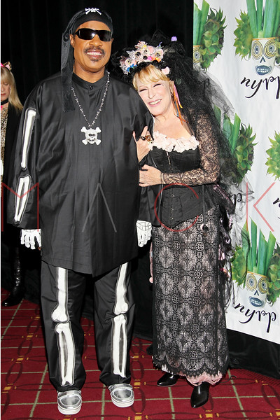 NEW YORK, NY - OCTOBER 28:  Stevie Wonder and Bette Midler attend 16th Annual Bette Midler's New York Restoration Project's Hulaween at The Waldorf=Astoria on October 28, 2011 in New York City.  (Photo by Steve Mack/S.D. Mack Pictures) *** Local Caption *** Stevie Wonder; Bette Midler