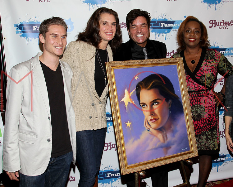 NEW YORK, NY - OCTOBER 28:  Brandon Cohen, Brooke Shields, Dale Badway and Angela Crockett attend the 2011 Fame-Wall NYC Halloween party at Hurley's Saloon on October 28, 2011 in New York City.  (Photo by Steve Mack/S.D. Mack Pictures) *** Local Caption *** Brandon Cohen; Brooke Shields; Dale Badway; Angela Crockett