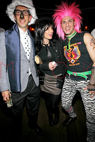 NEW YORK, NY - OCTOBER 29:  Douglas Lipton, Ali Mroczkowski and Nick Colacchio attend Ethan Zohn And Jenna Morasca's 2011 Halloween Costume Party at Bathtub Gin on October 29, 2011 in New York, United States.  (Photo by Steve Mack/S.D. Mack Pictures) *** Local Caption *** Douglas Lipton; Ali Mroczkowski; Nick Colacchio