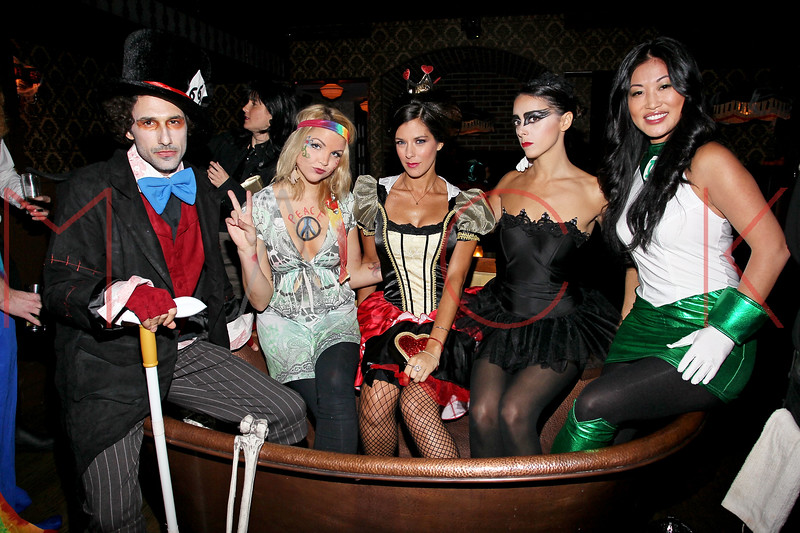 NEW YORK, NY - OCTOBER 29:  Ethan Zohn, Andrea Boehlke, Jenna Morasca, Eliza Orlins and Stacey Kimball attend Ethan Zohn And Jenna Morasca's 2011 Halloween Costume Party at Bathtub Gin on October 29, 2011 in New York, United States.  (Photo by Steve Mack/S.D. Mack Pictures) *** Local Caption *** Ethan Zohn; Andrea Boehlke; Jenna Morasca; Eliza Orlins; Stacey Kimball