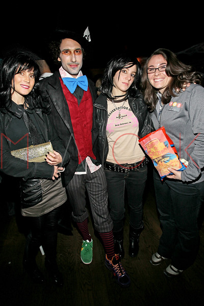NEW YORK, NY - OCTOBER 29:  Ali Mroczkowski, Ethan Zohn, Melissa Schoenberg and Rachel Derrico attend Ethan Zohn And Jenna Morasca's 2011 Halloween Costume Party at Bathtub Gin on October 29, 2011 in New York, United States.  (Photo by Steve Mack/S.D. Mack Pictures) *** Local Caption *** Ali Mroczkowski; Ethan Zohn; Melissa Schoenberg; Rachel Derrico