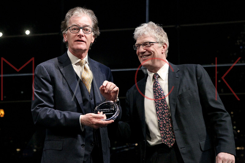 NEW YORK, NY - OCTOBER 24:  Thomas L. Harrison and Author, speaker, and international advisor on education in the arts Sir Ken Robinson attend the 2011 YMCA of Greater New York's Arts & Letters auction at Frederick P. Rose Hall, Jazz at Lincoln Center on October 24, 2011 in New York City.  (Photo by Steve Mack/S.D. Mack Pictures) *** Local Caption *** Thomas L. Harrison; Sir Ken Robinson
