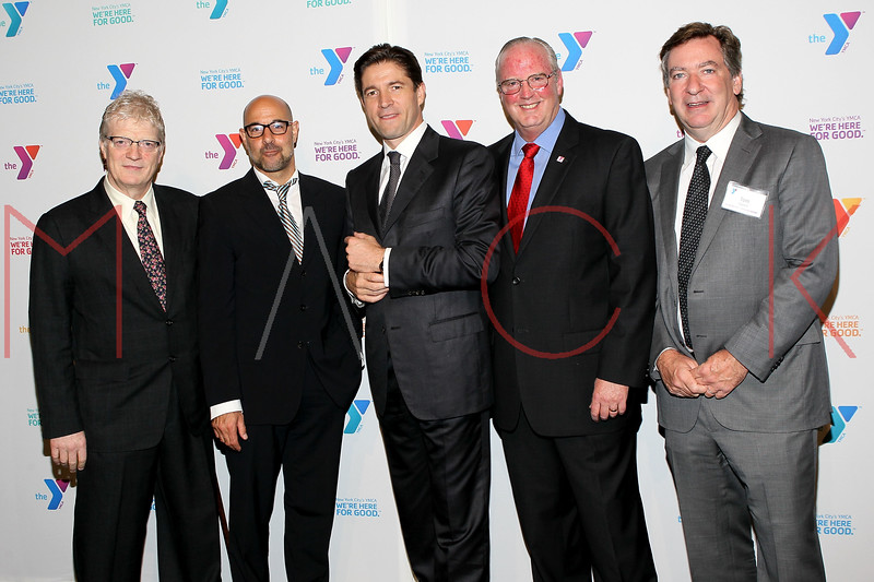 NEW YORK, NY - OCTOBER 24:  Author, speaker, and international advisor on education in the arts Sir Ken Robinson, Stanley Tucci, President and CEO of Harry Winston, Inc. Frederic de Narp, President and CEO of The YMCA of Greater New York Jack Lund and Tom Carroll attend the 2011 YMCA of Greater New York's Arts & Letters auction at Frederick P. Rose Hall, Jazz at Lincoln Center on October 24, 2011 in New York City.  (Photo by Steve Mack/S.D. Mack Pictures) *** Local Caption *** Sir Ken Robinson; Stanley Tucci; Frederic de Narp; Lund; Tom Carroll