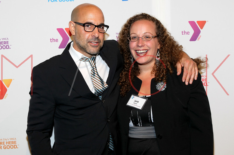 NEW YORK, NY - OCTOBER 24:  Stanley Tucci and Jame Krauter attend the 2011 YMCA of Greater New York's Arts & Letters auction at Frederick P. Rose Hall, Jazz at Lincoln Center on October 24, 2011 in New York City.  (Photo by Steve Mack/S.D. Mack Pictures) *** Local Caption *** Stanley Tucci; Jame Krauter