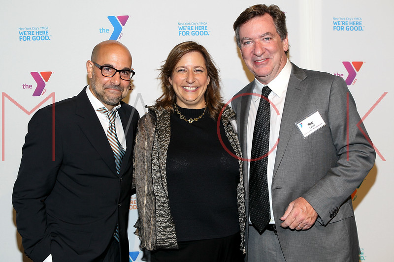 NEW YORK, NY - OCTOBER 24:  Stanley Tucci, Sabrina Crow and Tom Carroll attend the 2011 YMCA of Greater New York's Arts & Letters auction at Frederick P. Rose Hall, Jazz at Lincoln Center on October 24, 2011 in New York City.  (Photo by Steve Mack/S.D. Mack Pictures) *** Local Caption *** Stanley Tucci; Sabrina Crow; Tom Carroll