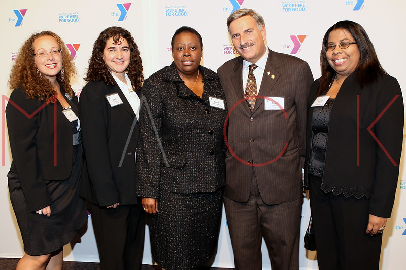 NEW YORK, NY - OCTOBER 24:  Jame Krauter, Dana Feinberg, Rosalyn Allman-Manning, New York State Assemblyman David Weprin and Tyronza Murray attend the 2011 YMCA of Greater New York's Arts & Letters auction at Frederick P. Rose Hall, Jazz at Lincoln Center on October 24, 2011 in New York City.  (Photo by Steve Mack/S.D. Mack Pictures) *** Local Caption *** Jame Krauter; Dana Feinberg; Rosalyn Allman-Manning; David Weprin; Tyronza Murray