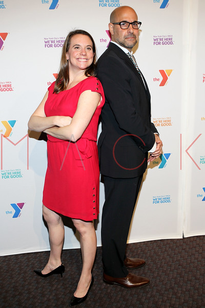 NEW YORK, NY - OCTOBER 24:  Sr. Director of Communications & Public Relations Ellen Murphy and Stanley Tucci attend the 2011 YMCA of Greater New York's Arts & Letters auction at Frederick P. Rose Hall, Jazz at Lincoln Center on October 24, 2011 in New York City.  (Photo by Steve Mack/S.D. Mack Pictures) *** Local Caption *** Ellen Murphy; Stanley Tucci