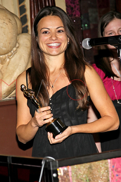 """ATLANTIC CITY, NJ - OCTOBER 16:  Award recipient for best actress for a feature """"Stuck in the Middle"""", Penelope Lagos attends the 2011 Atlantic City Awards Ceremony in The Foundation Room in Showboat Atlantic City on October 16, 2011 in Atlantic City, New Jersey.  (Photo by Steve Mack/S.D. Mack Pictures) *** Local Caption *** Penelope Lagos"""