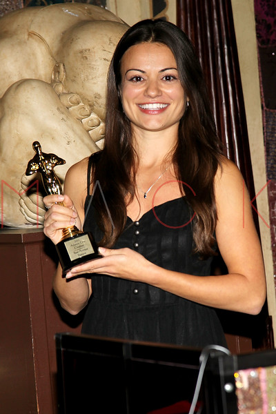 "ATLANTIC CITY, NJ - OCTOBER 16:  Award recipient for best actress for a feature ""Stuck in the Middle"", Penelope Lagos attends the 2011 Atlantic City Awards Ceremony in The Foundation Room in Showboat Atlantic City on October 16, 2011 in Atlantic City, New Jersey.  (Photo by Steve Mack/S.D. Mack Pictures) *** Local Caption *** Penelope Lagos"