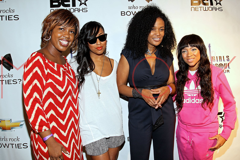 NEW YORK, NY - OCTOBER 13:  Brooke Ellis, Melanie Fiona, Beverly Bond and Lil Mama attend the Black Girl Rock! & Soul concert at S.O.B.'s on October 13, 2011 in New York City.  (Photo by Steve Mack/S.D. Mack Pictures) *** Local Caption *** Brooke Ellis; Melanie Fiona; Beverly Bond; Lil Mama
