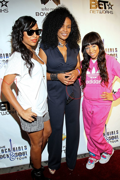 NEW YORK, NY - OCTOBER 13:  Melanie Fiona, Beverly Bond and Lil Mama attend the Black Girl Rock! & Soul concert at S.O.B.'s on October 13, 2011 in New York City.  (Photo by Steve Mack/S.D. Mack Pictures) *** Local Caption *** Melanie Fiona; Beverly Bond; Lil Mama