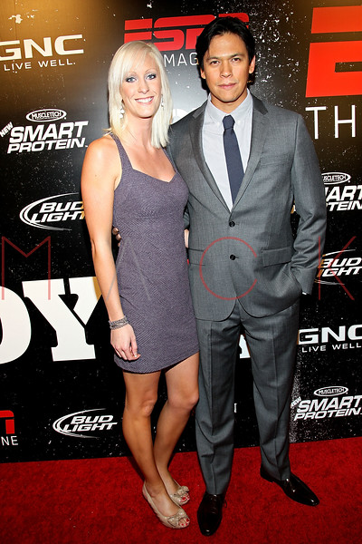 NEW YORK, NY - OCTOBER 06:  Emilee Wegner and Chaske Spencer attend ESPN the Magazine's 3rd annual Body Issue party at Highline Stages on October 6, 2011 in New York City.  (Photo by Steve Mack/S.D. Mack Pictures) *** Local Caption *** Emilee Wegner and Chaske Spencer