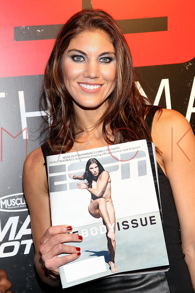 NEW YORK, NY - OCTOBER 06:  Hope Solo attends ESPN the Magazine's 3rd annual Body Issue party at Highline Stages on October 6, 2011 in New York City.  (Photo by Steve Mack/S.D. Mack Pictures) *** Local Caption *** Hope Solo