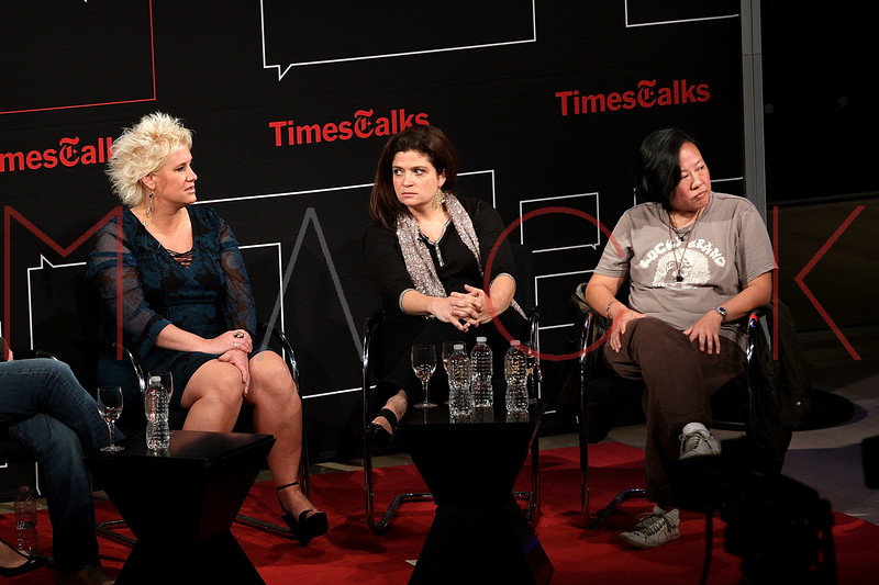 NEW YORK, NY - OCTOBER 01:  Anne Burrell, Alexandra Guarnaschelli and Anita Lo attend a New York Time TimesTalks at The Times Center on October 1, 2011 in New York City.  (Photo by Steve Mack/FilmMagic) *** Local Caption *** Anne Burrell; Alexandra Guarnaschelli; Anita Lo