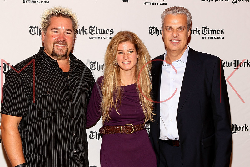NEW YORK, NY - OCTOBER 01:  Author Guy Fieri, Chef Jennifer Carroll and wner of Le Bernardin Eric Ripert attends a New York Time TimesTalks at The Times Center on October 1, 2011 in New York City.  (Photo by Steve Mack/FilmMagic) *** Local Caption *** Eric Ripert; Jennifer Carroll; Eric Ripert