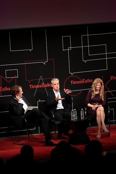NEW YORK, NY - OCTOBER 01:  New York Times Dining editor Pete Wells, owner of Le Bernardin Eric Ripert and chef Jennifer Carroll attend a New York Time TimesTalks at The Times Center on October 1, 2011 in New York City.  (Photo by Steve Mack/FilmMagic) *** Local Caption *** Pete Wells; Eric Ripert; Jennifer Carroll