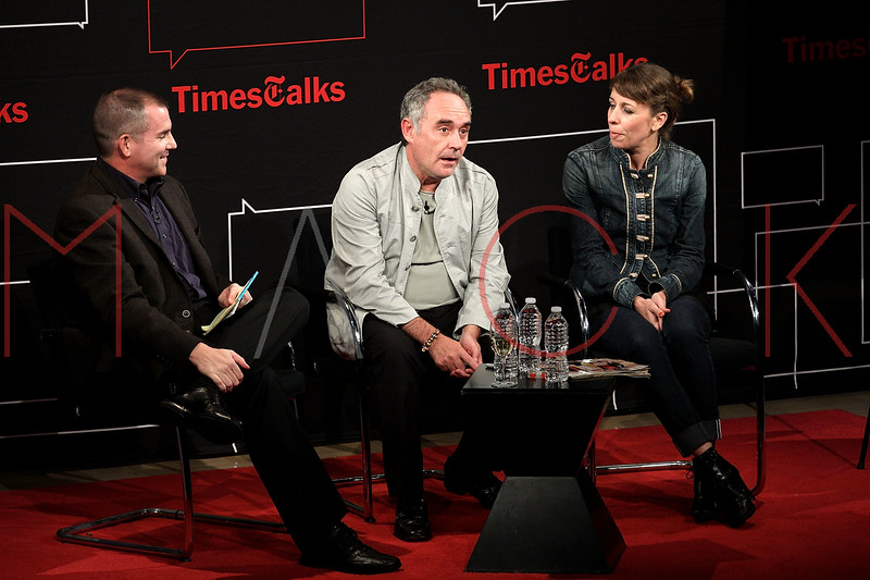 NEW YORK, NY - OCTOBER 01:  New York Times Op-Ed columnist, author and former restaurant critic, Frank Bruni speaks with Chef Ferran Adria at a New York Time TimesTalks at The Times Center on October 1, 2011 in New York City.  (Photo by Steve Mack/FilmMagic) *** Local Caption *** Frank Bruni; Ferran Adria