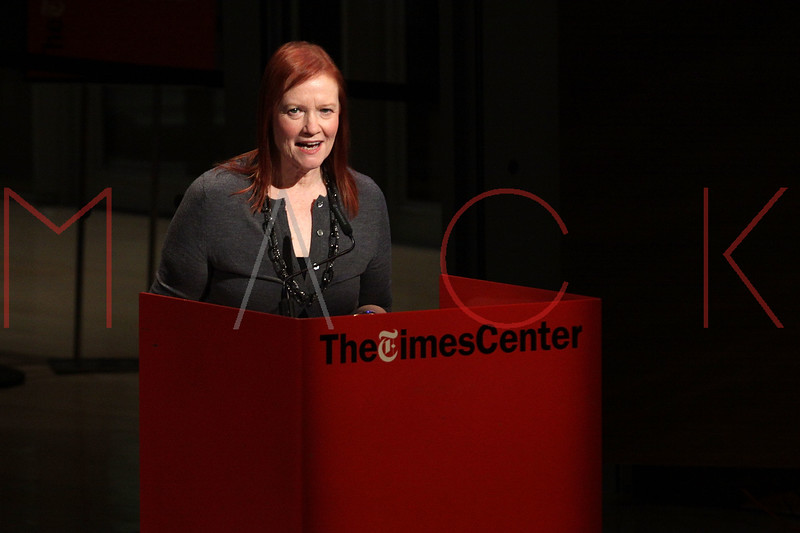 NEW YORK, NY - OCTOBER 01:  Carol Olsen Day of the New York Times welcomes guest at a New York Time TimesTalks at The Times Center on October 1, 2011 in New York City.  (Photo by Steve Mack/FilmMagic) *** Local Caption *** Carol Olsen Day