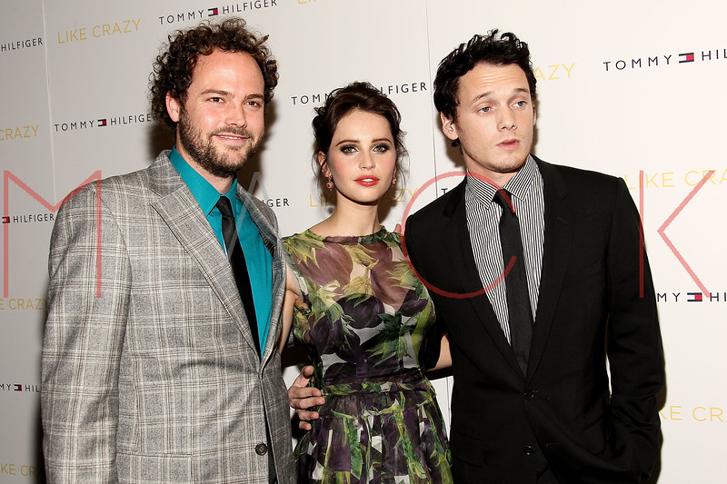 "NEW YORK, NY - OCTOBER 18:  Drake Doremus, Felicity Jones and Anton Yelchin attend the ""Like Crazy"" premiere at the Sunshine Landmark theater on October 18, 2011 in New York City.  (Photo by Steve Mack/S.D. Mack Pictures) *** Local Caption *** Drake Doremus; Felicity Jones; Anton Yelchin"